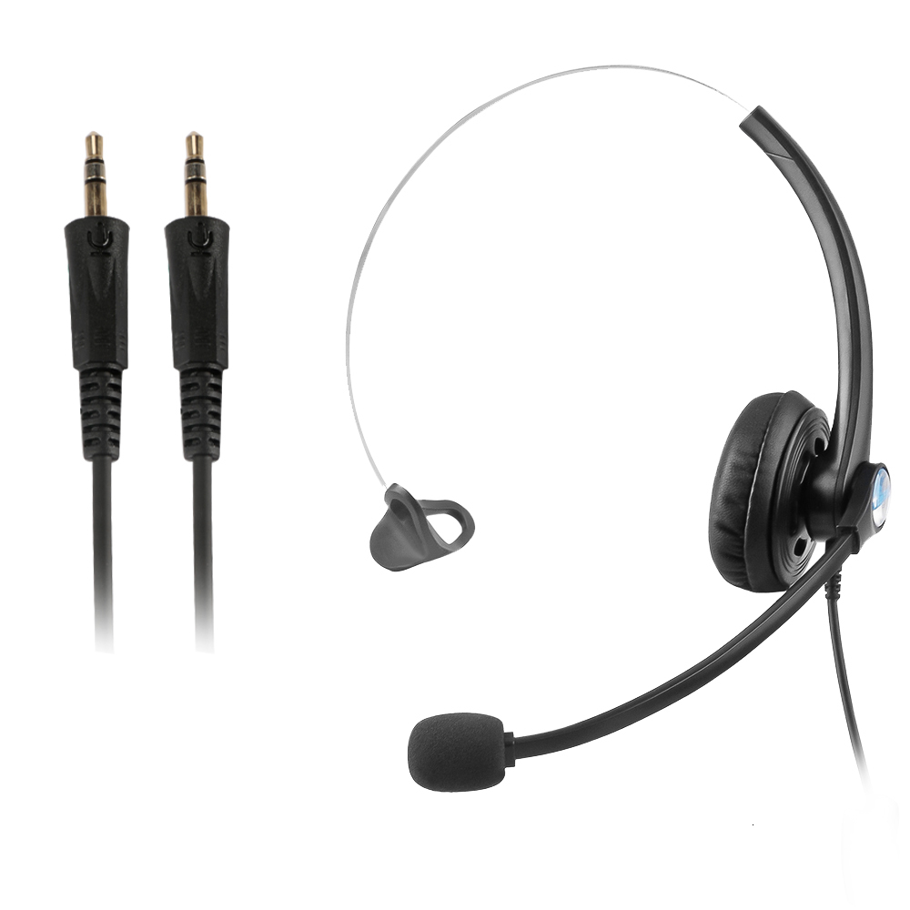 Call Center Headset Dual 3.5mm Jack Telephone Voice Operator Office Headphones Noise Reduction With Microphone For Computer PC