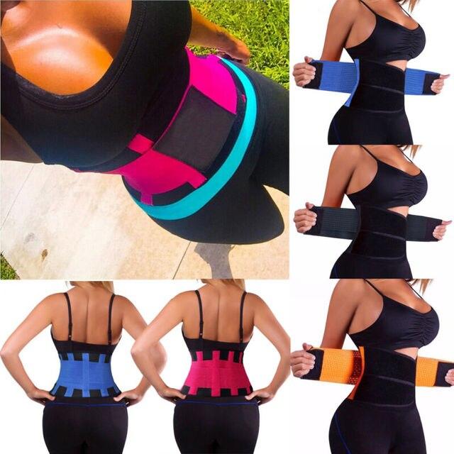 Womens Hot Sweat Sauna Neoprene Body Shaper Slimming Waist Trainer Slim Belt Gym 3