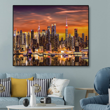 Modern City Landscape Canvas Painting Wall Art Scenery Posters And Prints Wall Pictures For Living Room Decoration Home Decor 2pic set paris city landmarks and cars modern painting hd prints on canvas wall art for living room canvas printings home decor