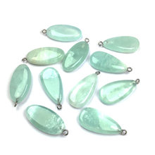 LE SKY Hot Natural Stone Agates Pendant & Necklace Elliptical Shape Pendants Charms for Jewelry Making DIY Necklaces 20-45mm