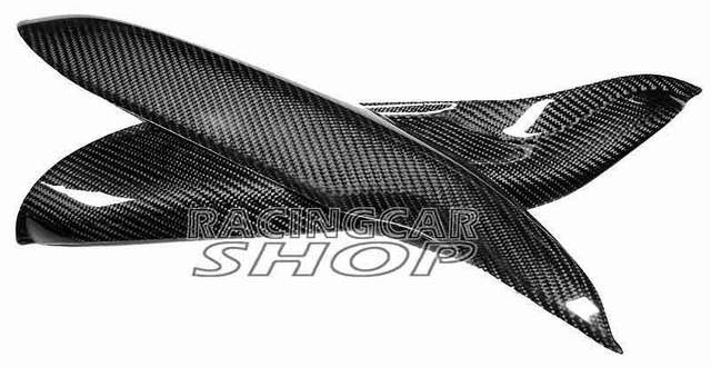 REAL CARBON FIBER SMART fortwo (451) Coupe/Cabrio Headlight Brows Lids Eyebrows Eyelids 07-14 M115E 3