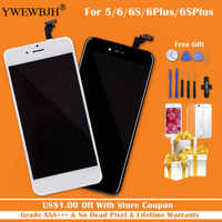YWEWBJH Grade AAA+++ For iPhone 6 6S Plus screen With 3D Touch LCD Digitizer Assembly For iPhone 5S Display No Dead Pixel