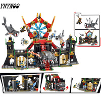 1176 Pcs Ninja Fighting Shark Palace Compatible Legoings Ninjago 70654 Movies Model Building Blocks Toys For Children