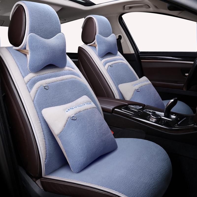 Deluxe Plush Car Seat Covers Winter wool seat cushion for suzuki grand vitara jimny swift accessories sx4 baleno ignis covers