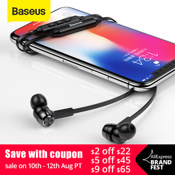 цена на Baseus S06 Neckband Bluetooth Earphone Wireless earphones For Xiaomi iPhone earbuds stereo auriculares fone de ouvido with MIC