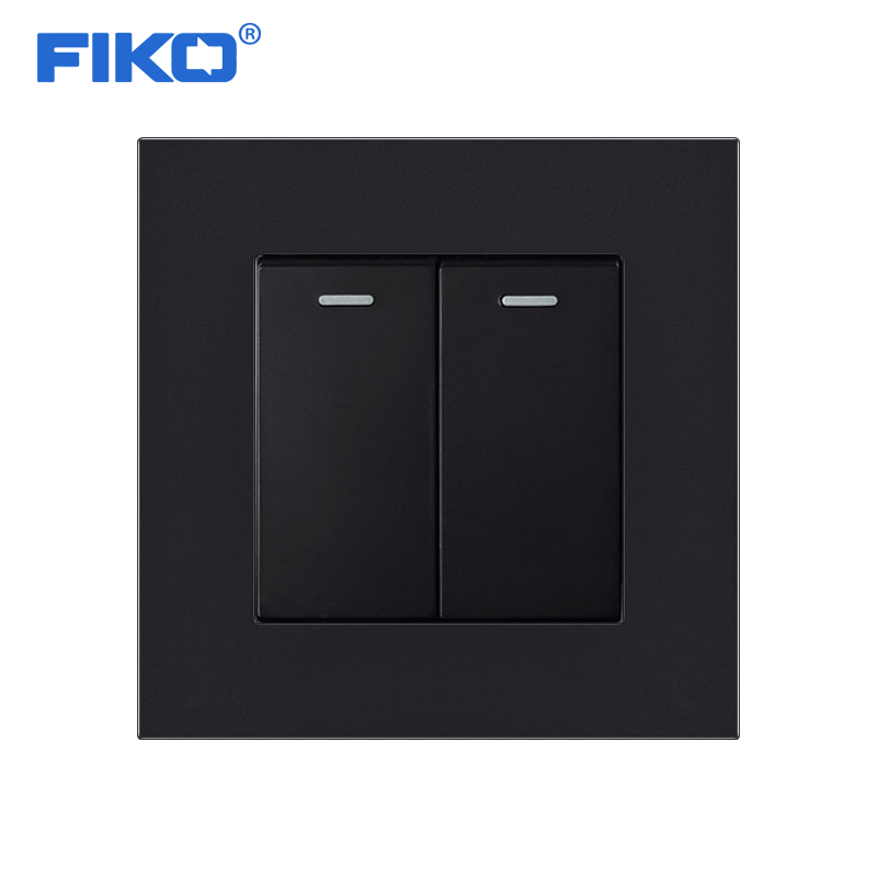 FIKO 1 2 3 4 Gang <font><b>12</b></font> 3 Way Luxury Light Switch On / Off Wall Switch Interruptor Stainless Steel Panel AC 110~<font><b>250V</b></font> image