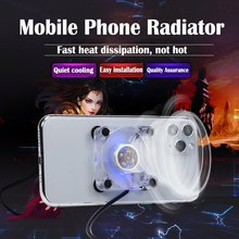 Mobile Phone Radiator Gaming Universal Phone Cooler Adjustable Portable Fan Holder Heat Sink For iPhone Samsung Huawei xiaomi LG
