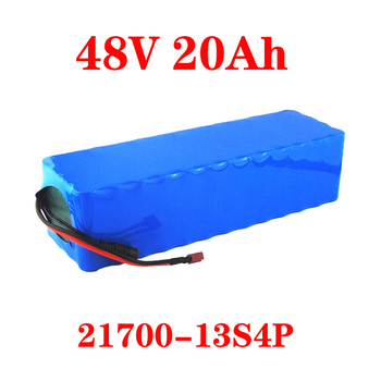 LiitoKala 48V 20AH 48V Lithium battery 21700 5000mAh 13S4P 500W Scooter Battery 48v20ah Electric Bike Battery mountain bike fat 48v 500w samsung lithium battery electric bicycle 10 an large capacity 27 speed 26 x 4 0 electric snow bike