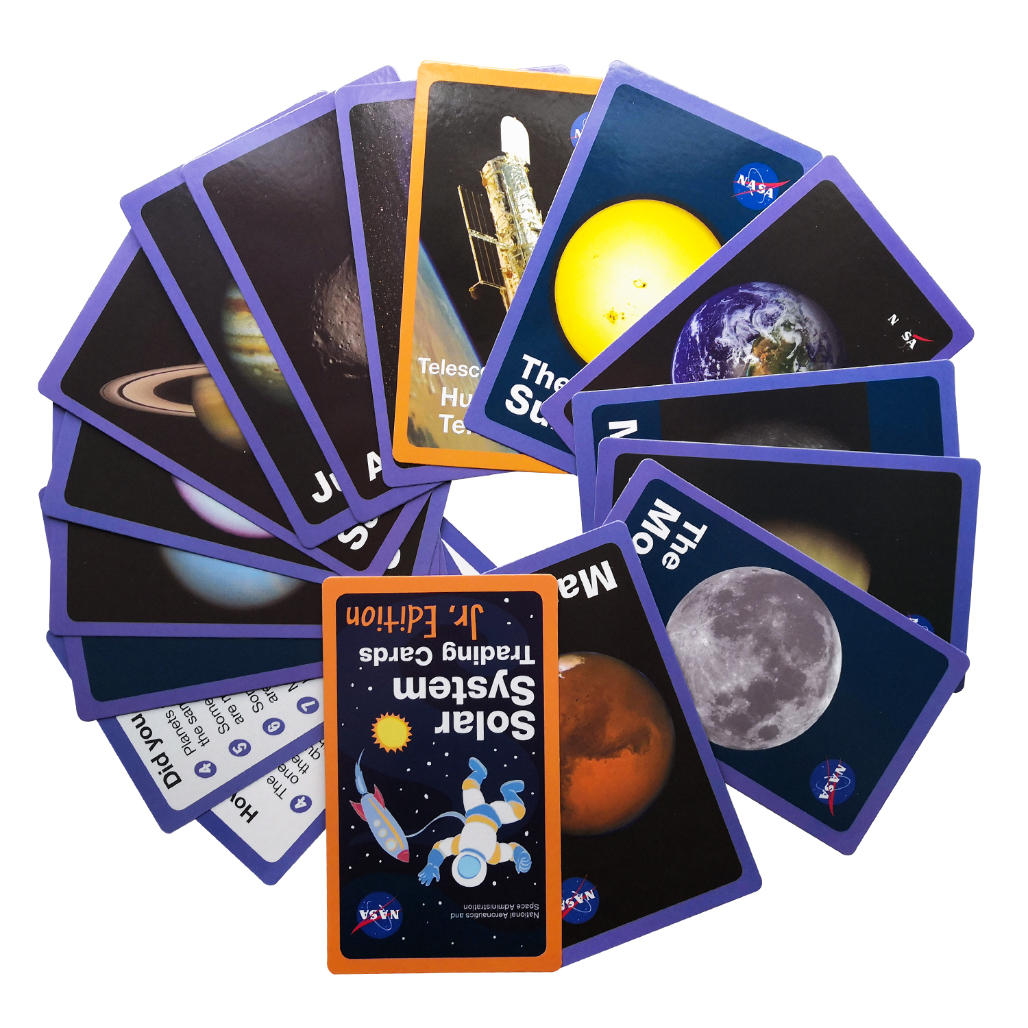 Space Solar System Star English Learning Word Card Montessori Early Educational Toys Children Game Pocket Card Kids Flash Cards