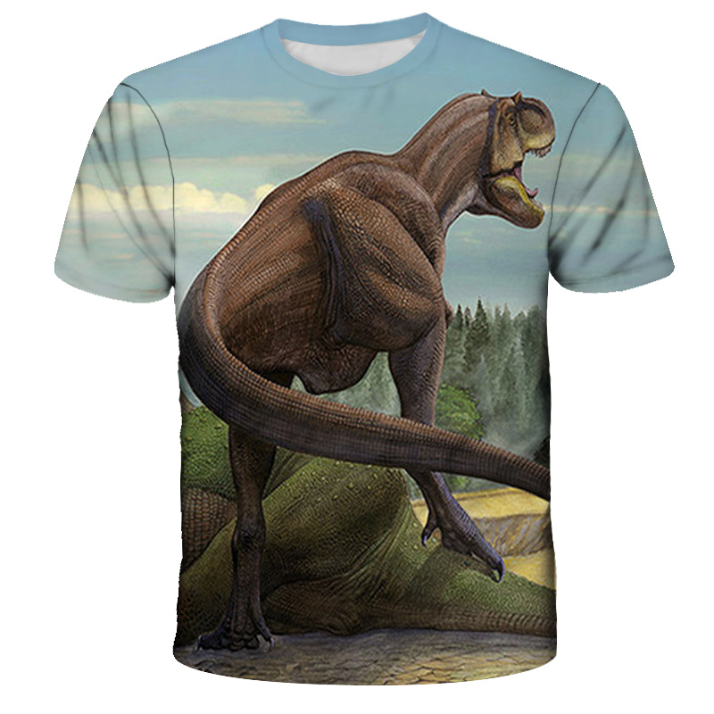 Kids Toddler Boys Fantastic Beasts Dinosaur Graphic T-shirt 3D Animal Print Girls Short Sleeve Tee Baby Clothes Active Cool
