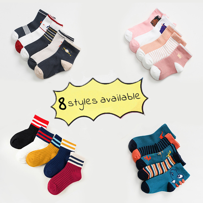 10 PCS/lot=5 Pair Baby Boy Socks Girls Socks Cotton Soft Cartoon Unisex Kids Children Socks For 1-12Y Breathable