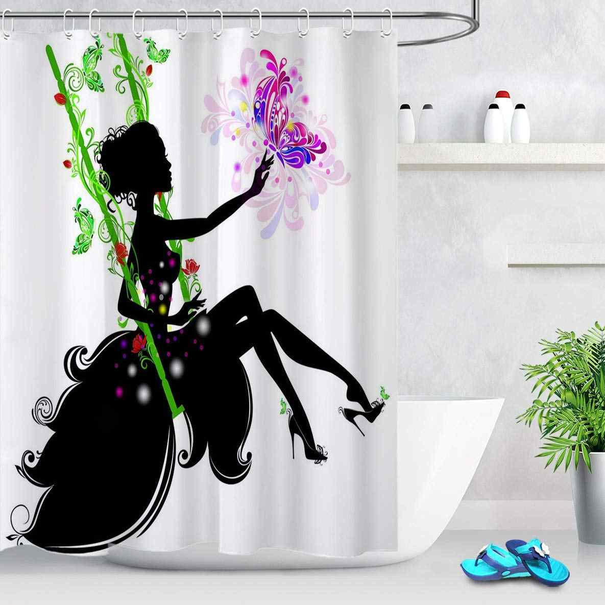 Feminine Decor Black Girl Magic Shower Curtain African American
