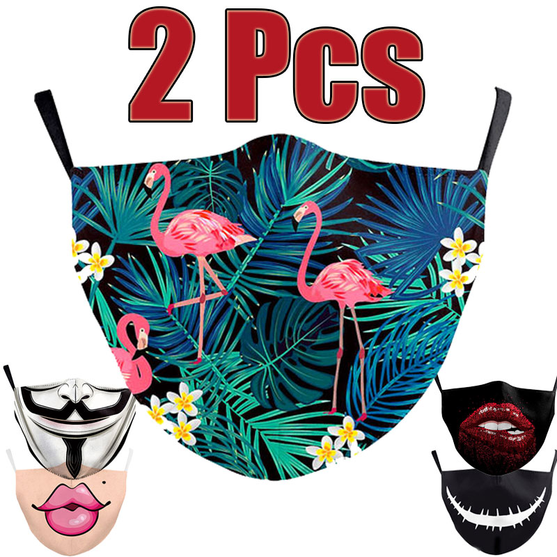 2Pcs Vogue Unisex Anti-Infection Virus Face Mouth Masks Cover Washable Protection Dust Breath Reusable Masks Proof Bacteria Mask