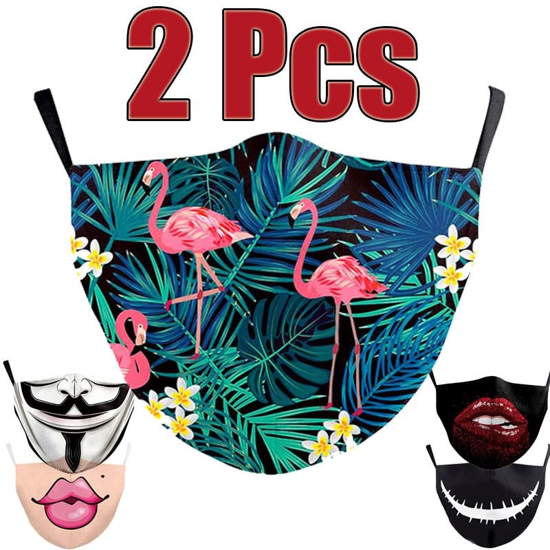 2Pcs Vogue Unisex Anti-Infection Virus Face Mouth Masks Cover Washable Protection Dust Breath Reusable Masks Proof Bacteria Mask