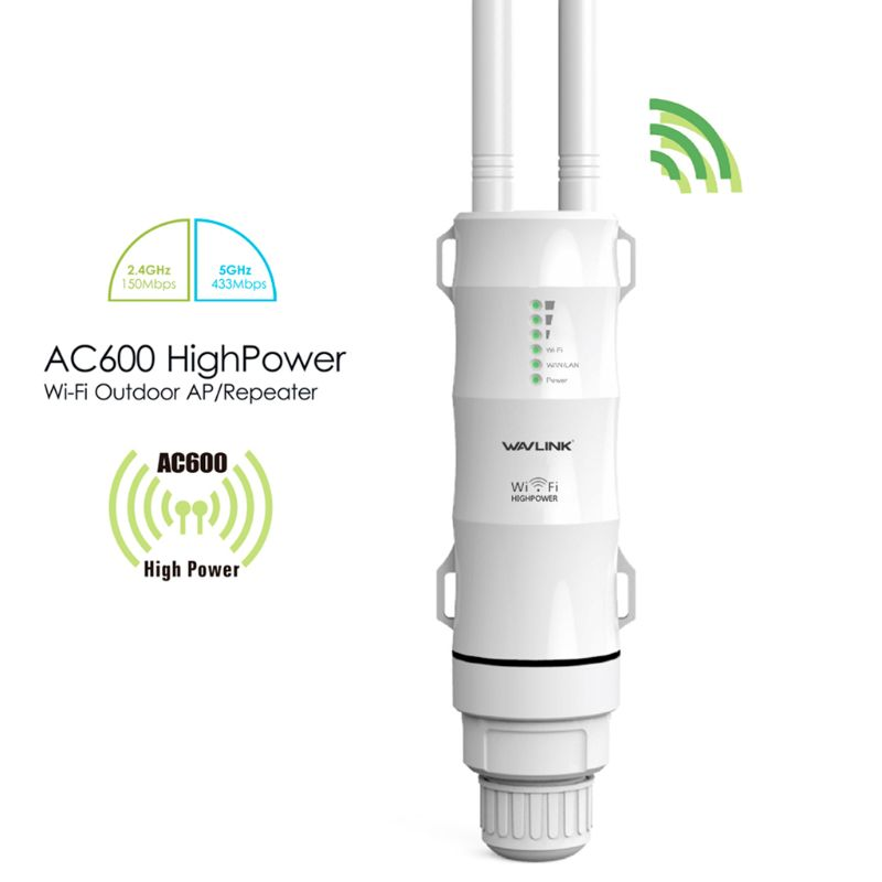 2021 New AC600 Wifi 2.4G 5G Dual Frequency Repeater High Power Outdoor WIFI Router Network Signal Booster 1