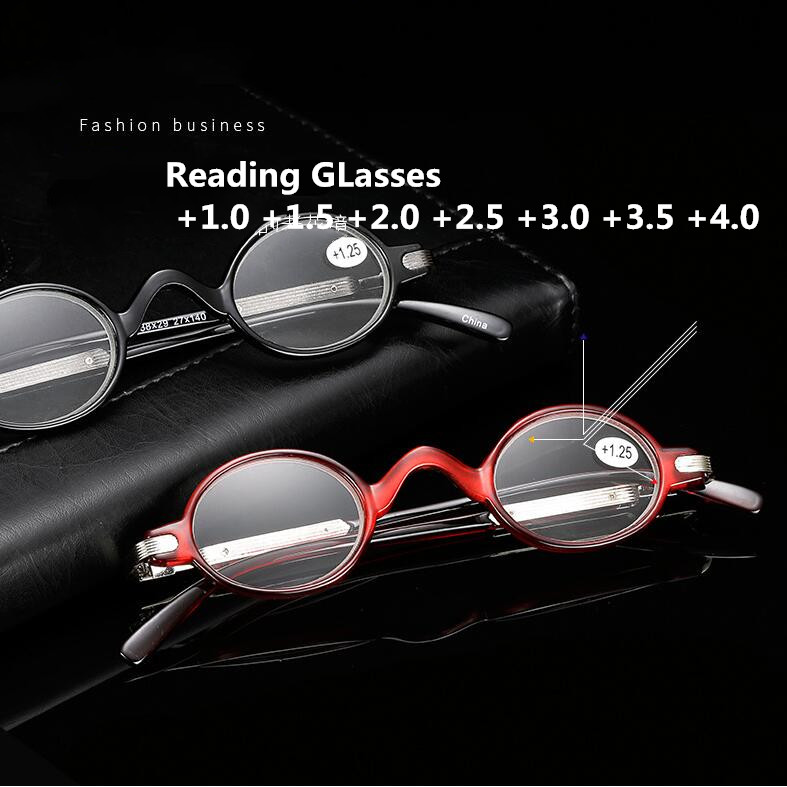 High Quality Small Reading Glasses Men Women Fashion Round Frame Eyeglasses Retro Hyperopia Prescription