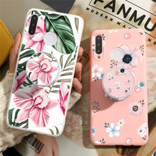 Floral Stand Holder Case For Huawei Y6 Y7 Y9 Pro Prime 2018