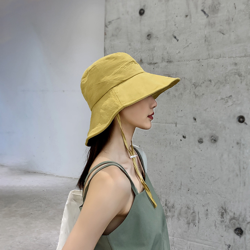 A Sunscreen In Spring And Summer And Women Hat Brim In The Han Edition British Joker Big Folding Fisherman Hat Bonnet Vivid And Great In Style