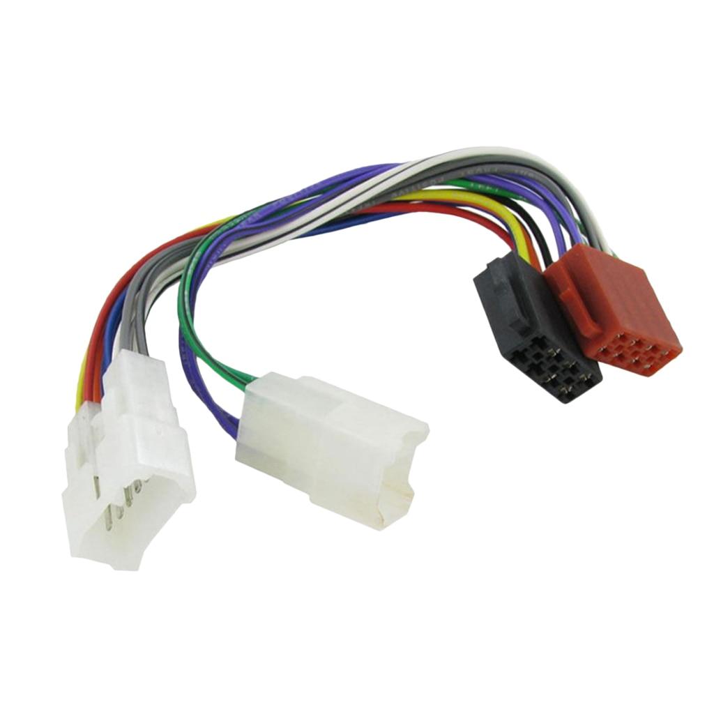 Rádio do carro cablagem cabo plug auto estéreo iso adaptador conector de fiação para toyota lexus mr2 land cruiser rav4 solara yaris