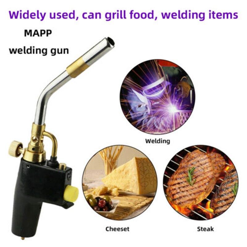 Gas Welding Torch Propane Soldering Outdoor Camping Picnic BBQ Burner Brazing Gas Soldering Torch Heat Gun for Welding Equipment
