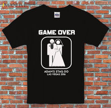 Stag Do Game Over Marriage Personalised Text Funny  Black T Shirt S-3XL Good Quality Brand Cotton Summer Style Cool Shirts
