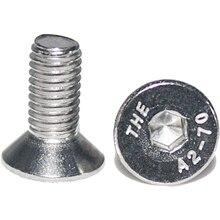цена на Fullerkreg 50pcs M5x8mm Stainless Steel Flat Head Hex Socket Head Cap Bolts Screws - 304 Stainless Steel