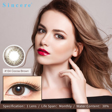 Sincere-vision1pcs/box Cocoa brown contact lenses for eyes pupil 0-900 diopters Contact Lenses Cosmetic Contact Lens Eye Color