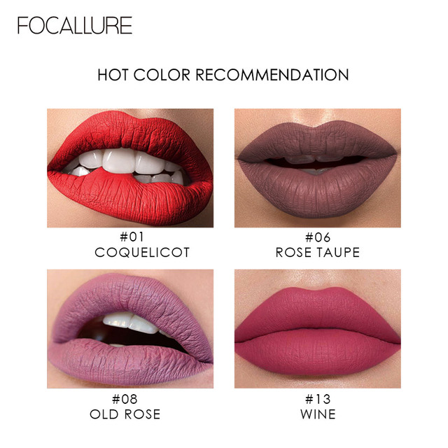 FOCALLURE Matte Lipgloss Sexy Liquid Lipstick Matte Long Lasting Waterproof Cosmetic Beauty Keep 24 Hours Makeup lipgloss 2