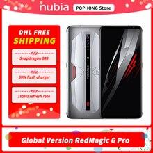 RedMagic 6 Pro – téléphone Gaming 5G Version globale, 6.8 pouces, 165Hz AMOLED, Snapdragon 888 Octa Core, Charge rapide 30W