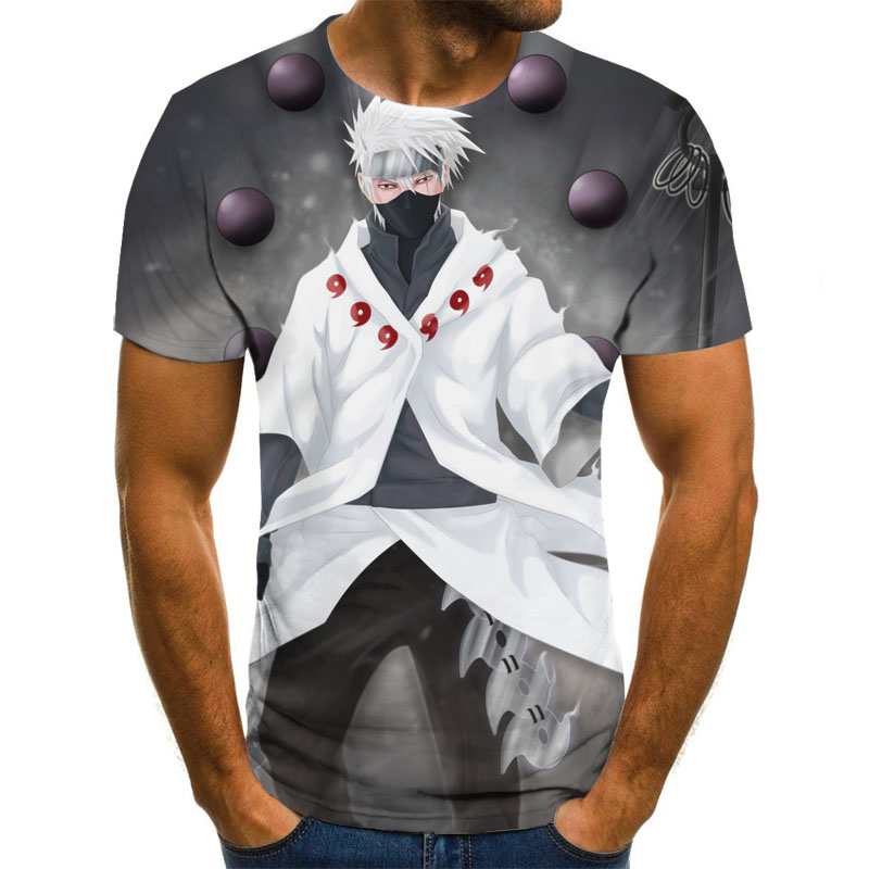 Anime Graphic T-shirt 3D Men's T-shirt Summer Harajuku Tops Round Neck Shirt Anime Boys Clothing Plus Size Streetwear
