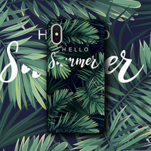 Lovebay Phone Case Cover For iphone 7 Soft IMD Green Leaf Hello Summer Glossy Cases XS Max XR X 6 6S 8 Plus