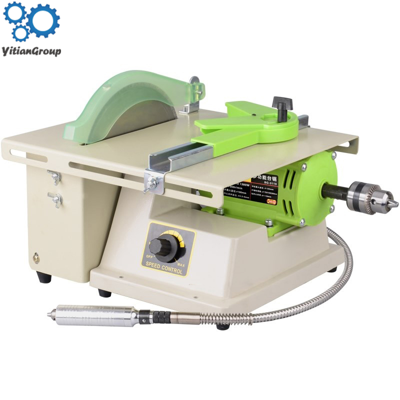 Jewelry Stone Rock Woodworking Carving Polisher Buffer Lathe Grinding Cutting Machine Set Electric Grinder Tools Kit 1380W 220V