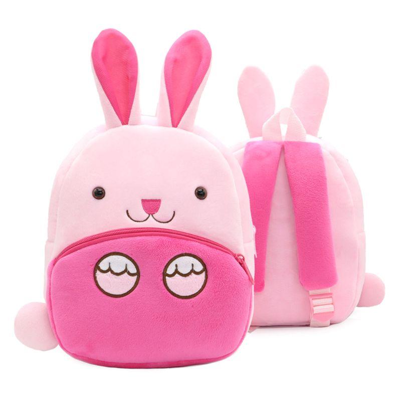 Lovely Rabbit Toddler Backpack Soft Plush Kids Schoolbag Lunch Snack Toy Shoulder Bag for Preschool Boys Girls Box
