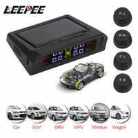 TPMS con alarma de presión de neumático de coche sistema de Monitor HD Digital LCD Pantalla de neumáticos presión temperatura sistemas de alarma de seguridad de coche