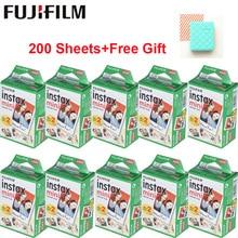 Оригинальная пленка Fujifilm Instax Mini, 10-200 листов, мгновенная фотобумага для Fuji Instax Mini 9 8 25 90 7 S, белая пленка+ Бесплатный подарок