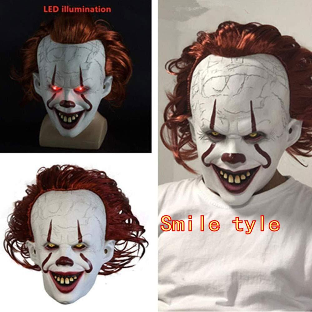 Halloween Party Cosplay Mask  Horror Pennywise Joker Mask Cosplay It Chapter 2 Clown Latex Pvc Masks Costume Props Deluxe