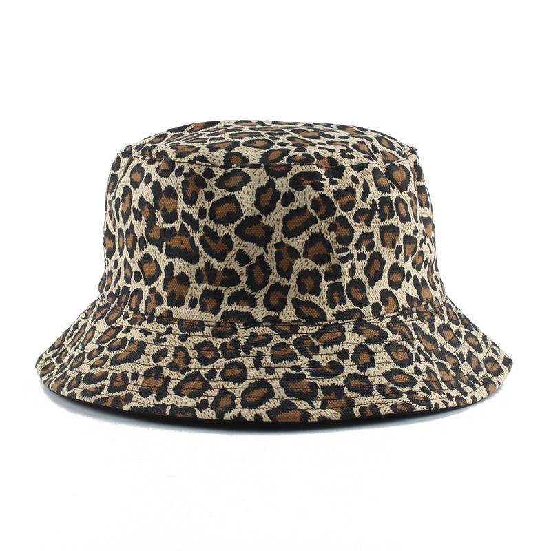 2020 Leopard Print Bucket Hat Reversible Fisherman Hat Outdoor Travel Panama Hat Sun Cap Hats For Men And Women
