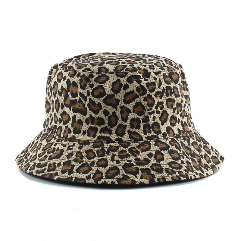 2020 Leopard Print Bucket Hat Reversible Fisherman Hat Outdoor Travel Panama Hat Sun Cap Hats For Men And Women