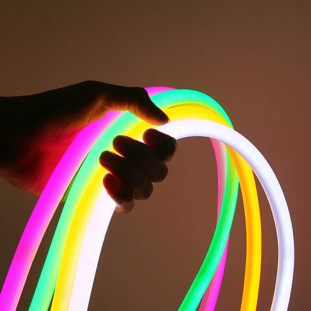 360 ĐÈN LED Tròn Neon Ống Linh Hoạt Dây ĐÈN LED Neon Ký AC220V SMD2835 120 Đèn LED/M Chống Nước Neon Dây 2 dây Đèn Trang Trí