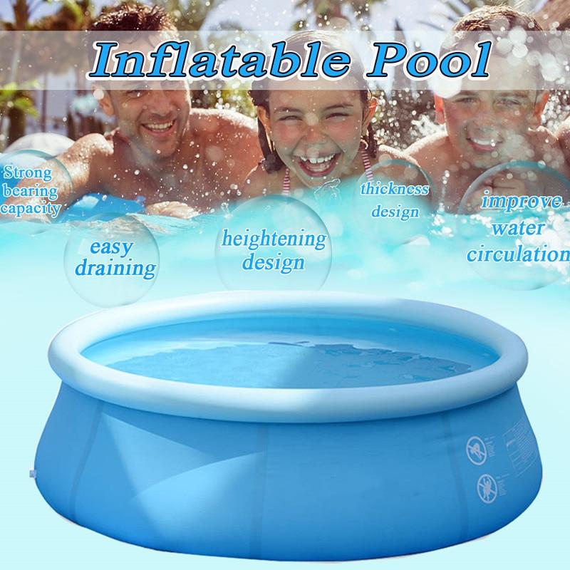 SGODDE 4-10Ft piscine gonflable famille jardin extérieur intérieur fête enfants jouant piscine circulaire