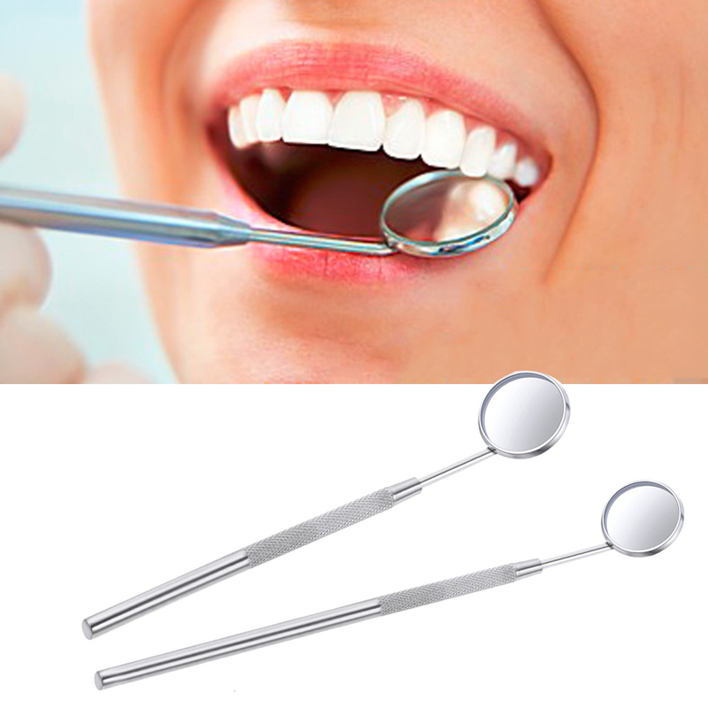 1Pcs Dental Mirror Stainless Steel Mouth Mirror Cleaning Teeth Dental Hygiene Kit Instrument Dental Pick Dentist Prepare Tools(China)