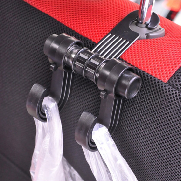 Wholesale Car Double Hook Organizing Tool Multi Purpose Chair Double Hook Car Back Hook