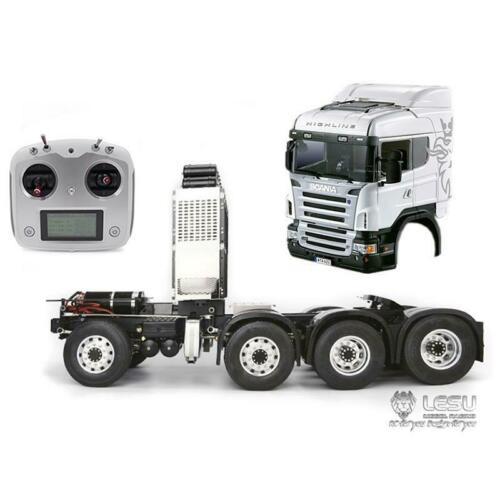 LESU 1/14 métal châssis bricolage son Sca cabine RC tracteur camion i6S moteur ESC THZH0304