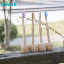 2019 Hoist Handle Toothbrush Tooth Brush Bamboo Charcoal Wood Environmental Protection Nature
