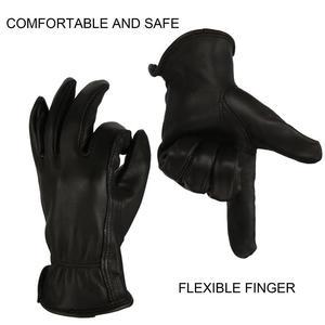 Image 2 - OZERO New Man Work Gloves Welding Working Gloves Deerskin Leather Safety Protective Garden MOTO Wear resisting Gloves 8003