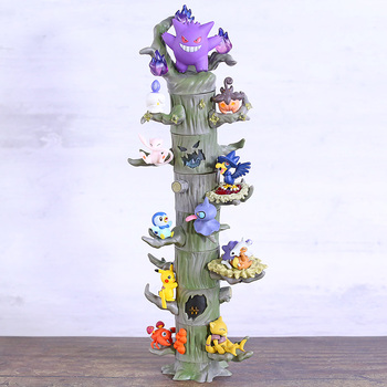 Monster Forest 2 Figures Gengar Mew Cubone Ditto Litwick Pumpkaboo Paras Abra Piplup Shuppet Murkrow Toys Dolls 8pcs/set image
