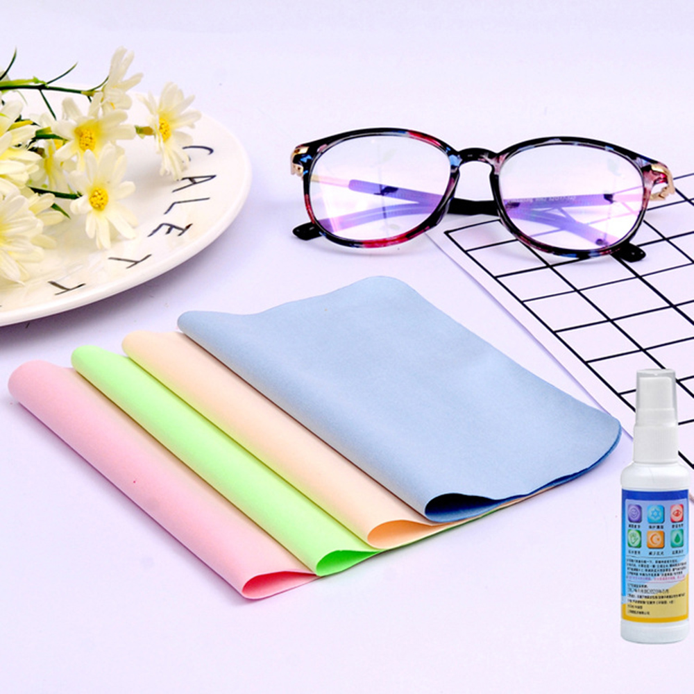 5 Pcs/pack Lens Eyeglasses Cleaning Cloth Microfiber Phone Screen Cleaner Sunglasses Camera Duster Wipes Eyewear Accessories