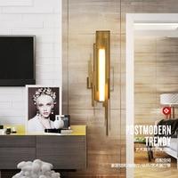 Ouro moderno lâmpada de parede led nordic espelho luminárias vidro arandela para sala estar quarto loft casa decoração industrial e27 Luminárias de parede     -