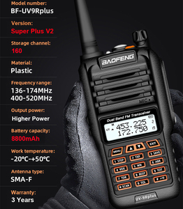 Image 5 - 2020 Newest Baofeng UV 9R Plus Walkie talkie two way radio vhf uhf 30 50km long range Ham CB radio station UV9R Plus 160 Channel