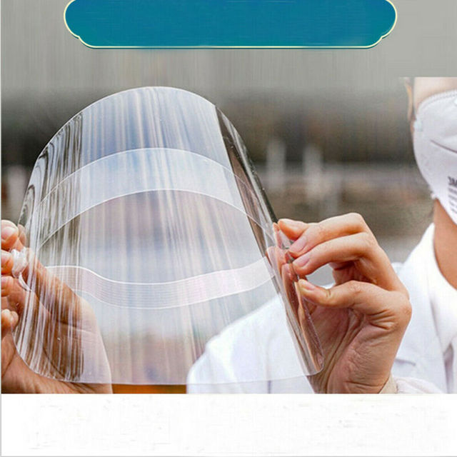 Clear Protective Mask Cover Plastic Anti-fog Saliva Face Shields Mask 4